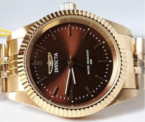 Relógio Invicta Feminino Dourado Original 12x Sem Juros Melhor Preço
