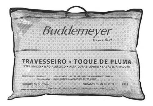 Travesseiro Buddemeyer Toque De Pluma Algodão 233 Fios 50x70