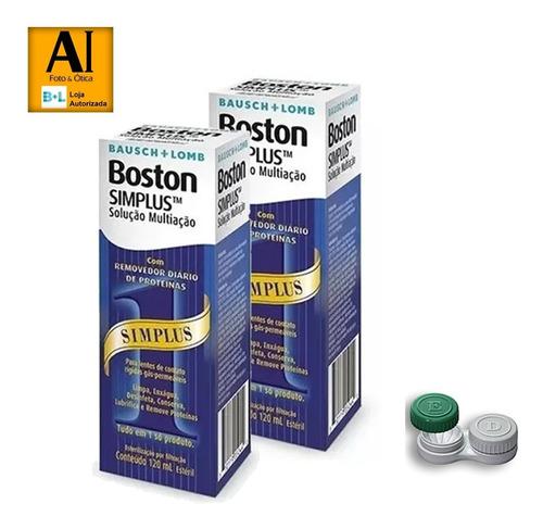 Solução Boston Simplus  120ml   2 Caixas + Estojo