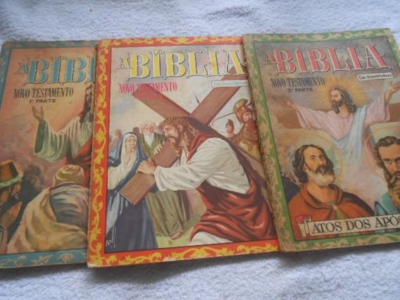 A Bíblia Em Quadrinhos Novo Testamento 3 Volumes Raridade