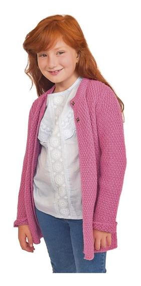 Witty Girls Saco Mila Rosa Sweater Abrigo Lana Ropa Nenas