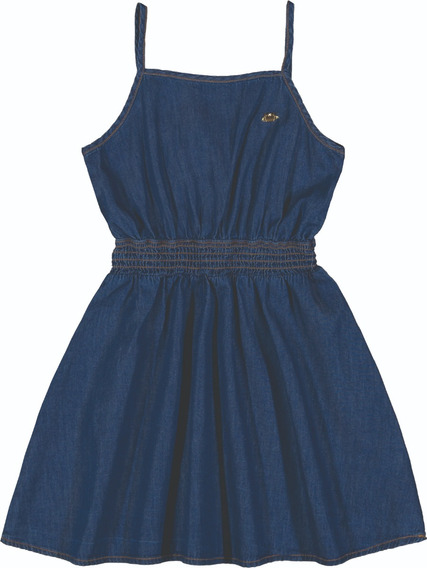 Vestido De Alcinha Infantil Colorittá Jeans