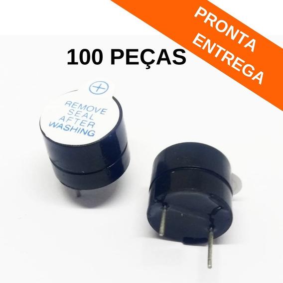 100x Buzzer Contínuo 5v 12mm Boa Qualidade (100 Peças)