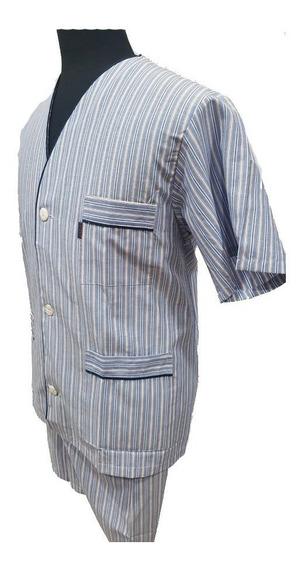 Pijama M/corta Pantalon Largo Tela Camisera Primus Xl Cuotas