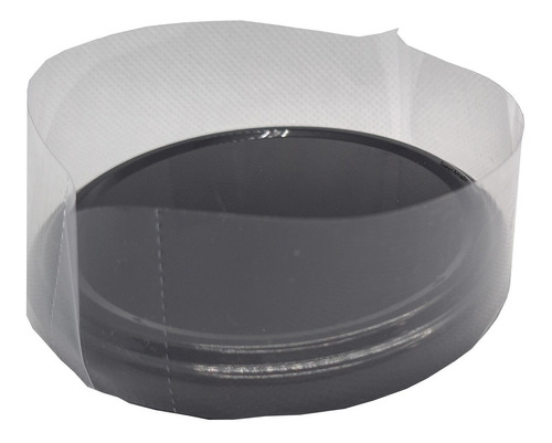 100 Lacre Termoencolhivel Tampa Metal Plástica 10cm Diâmetro