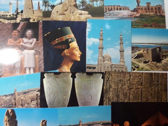 Lote 12 Postales Sin Usar De Egipto