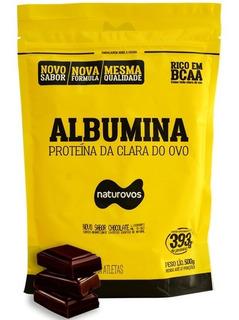 Albumina Proteína Chocolate Refil 500g Naturovos