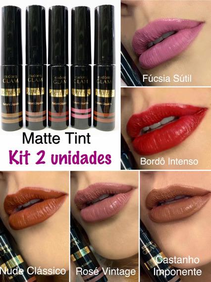 Kit 2 Batom Matte Tint Eudora - 18 Horas. Informe As Cores