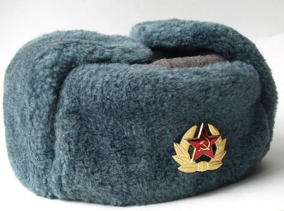 Ejército Soviético Soldado Ruso Ushanka Sombrero Ushanka
