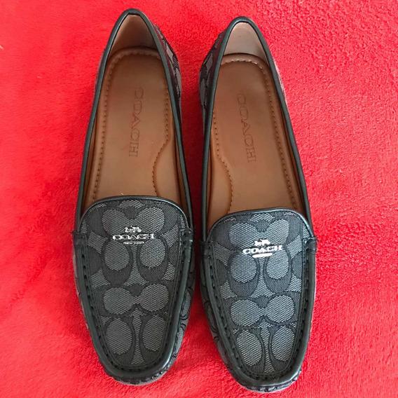 Zapato Tipo Mocasines Coach Original Nuevos(sin Caja) Negro