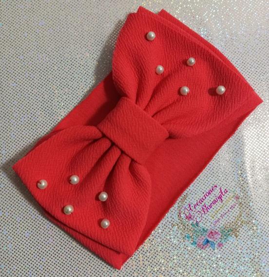 Headwrap Turbante Tiara De Moño Con Perlas Para Bebe