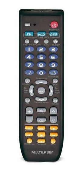 Controle Remoto Universal 3 Em 1 Preto - Ac088