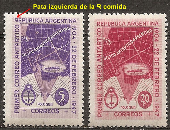 Argentina 485/6 Gj 943/4 Variedad R Comida Correo Antártico