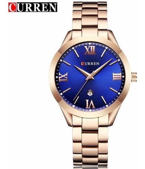 Relógio Curren 9007 Feminino Dourado