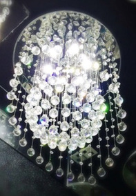 Lustre Led Cristal Plafon Redondo Lâmpada Sala De Jantar