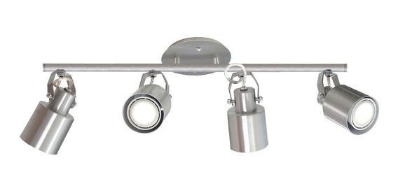 Spot Trilho Flex 418/4 Spotline Alumínio Escovado