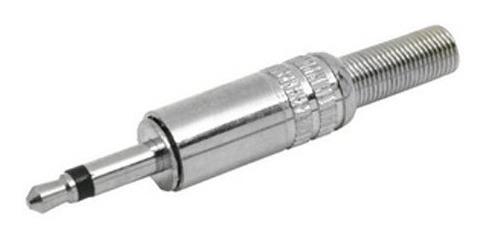 Plug P2 Macho Mono Metálico Com 10 Unidades