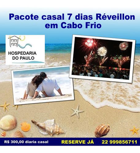 Imagem 1 de 8 de Pacote 7 Dias De Reveillon Para 1 Casal Em Cabo Frio 1 Suite
