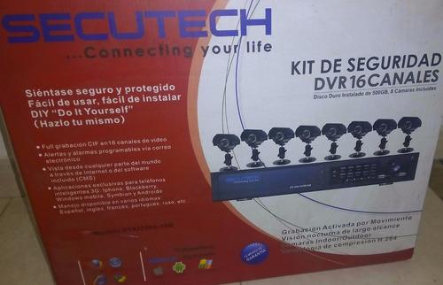 Kit 16 Canales 8 Camaras Con Disco Duro Incluido