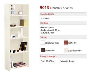Librero 5 Niveles (9013) Platinum Neuquén