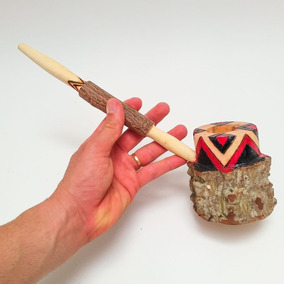 Cachimbo Cacique Xamânico Angico Sagrado Umbanda Indígena 7