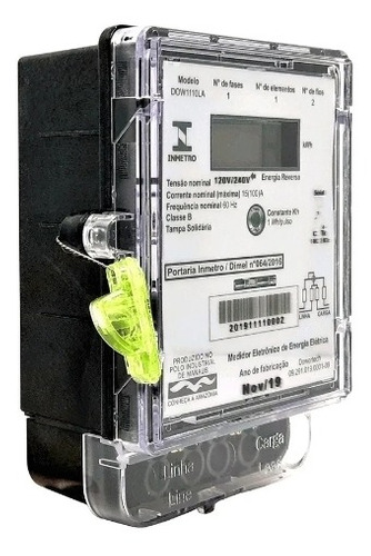 Imagem 1 de 1 de Medidor De Energia Elétrica Monofasico Dowertech 1110la