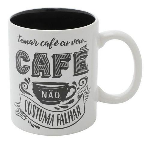 Imagem 1 de 4 de Caneca Expresso Coffee I Will Drink Branco Porcelana Urban