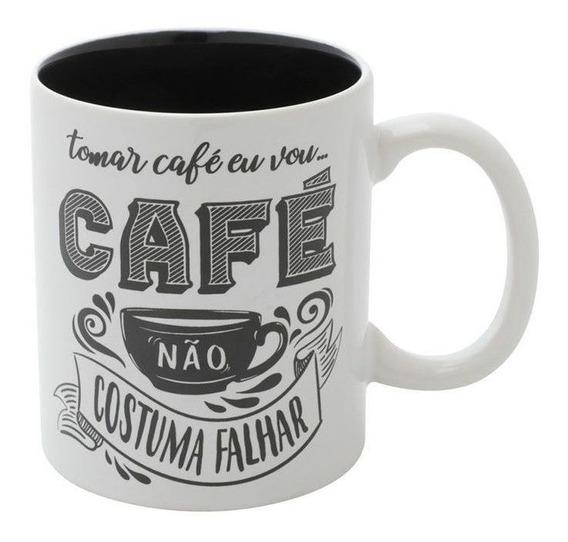 Caneca Expresso Coffee I Will Drink Branco Porcelana Urban