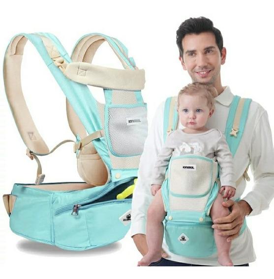 Canguro Ergonómico Con Pañalera Frontal Para Bebé Recién Nacido A 3 Años 20kg Carga Máx. Con Malla Algodón + Instructivo