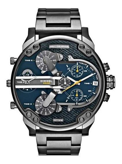 Relógio Original Diesel Dz7331 Mr. Daddy 2.0 Gun Metal 57 Mm