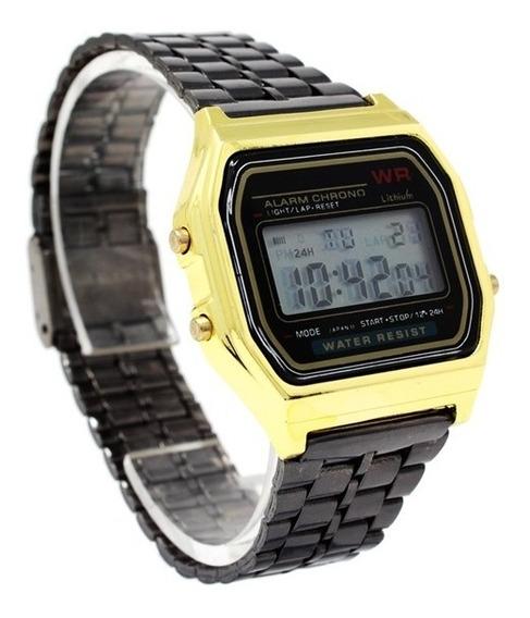 Reloj Caballero Dama Unisex Marca Wr Metálico Reloj Digital