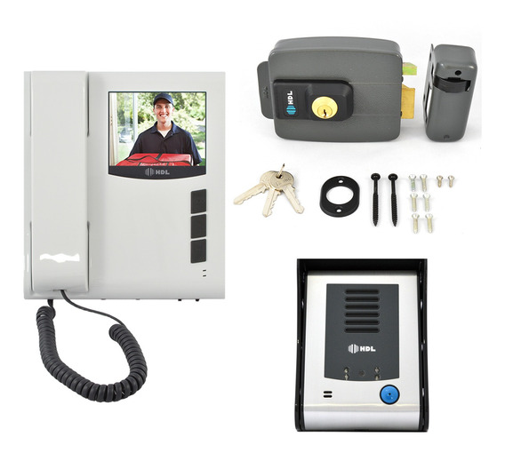Kit Interfone Hdl Câmera Com Fechadura C90 Original Com Nf