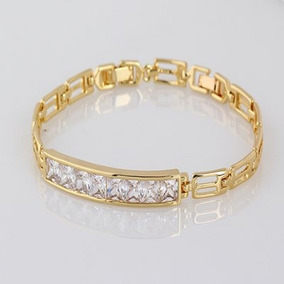 Bracelete Com Cristais Luxo Alta Qualidade