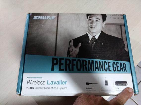 Microfone De Lapela Shure Pg185 + Sistema Sem Fio Pg4 Pg1