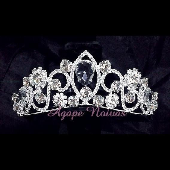 Coroa De Strass E Cristais Para Noiva E Festa Cr18ra-a