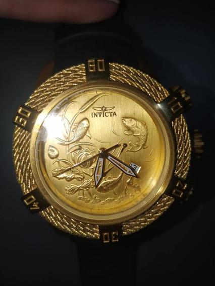 Relogio Invicta Ocean Master Quartz Com Detalhes De Peixes