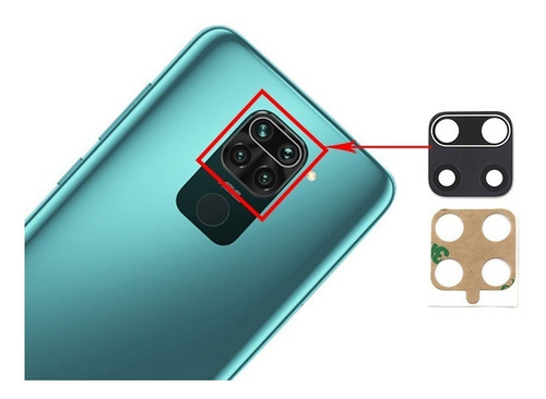 Repuesto Visor Vidrio Lente Camara Xiaomi Note 9s
