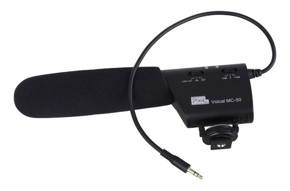 Microfone Camera Dslr Nikon Canon 70d 6d T7 D7100 D3400 T6i