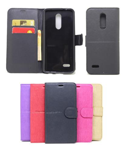 Imagem 1 de 2 de Capa Capinha Carteira LG K11 / K11 Plus Flip Case+ Pel Vidro