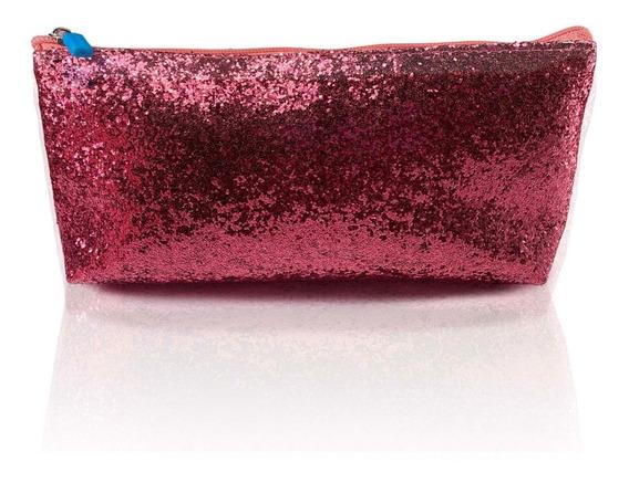 Cartuchera Shine Glitter Nena Niña Escolar Portacosméticos