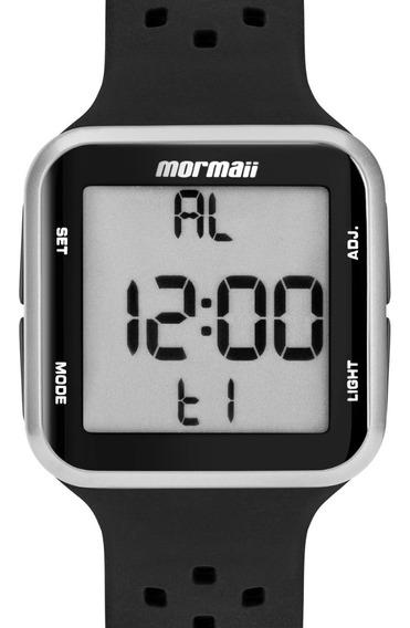 Relógio Feminino Digital Esportivo Prata Preto Mo6600aa/8k