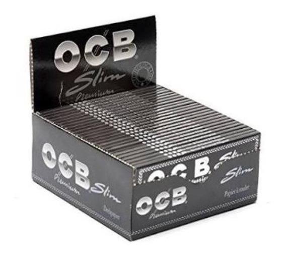 Caixa De Seda Ocb Black King Size Slim