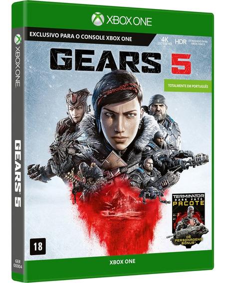 Jogo Gears Of War 5 Xbox One Midia Fisica Original Lacrado