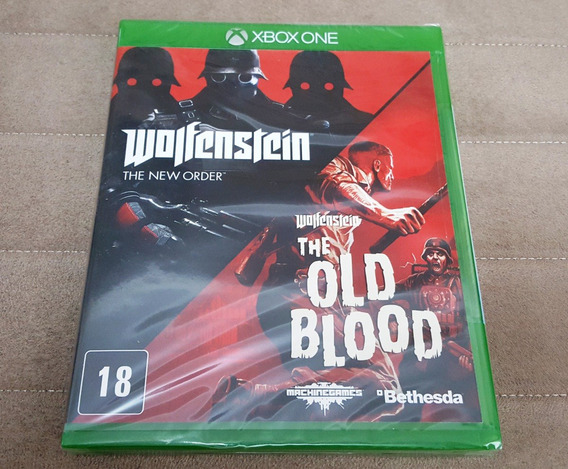 Xbox One Wolfenstein New Order + Old Blood Pack Mídia Física