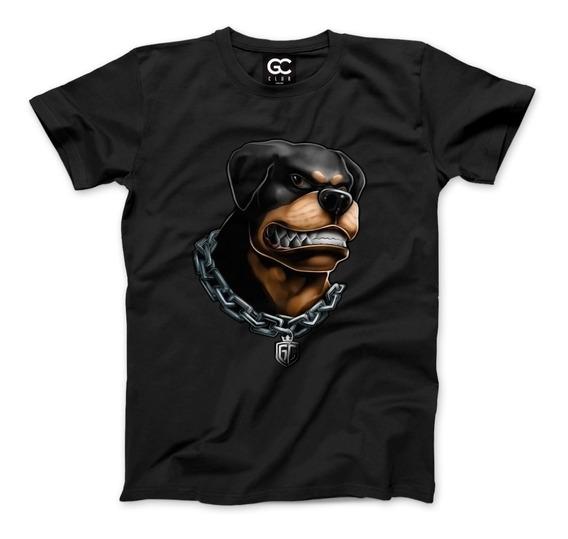 Camiseta Feminina Masculina Cachorro Rotweiller Tumblr 2019