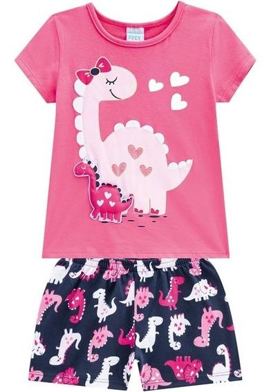 Pijama Infantil Kyly Menina Dinossauro