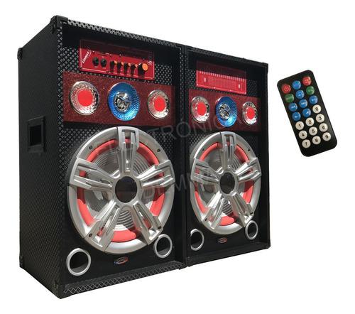 Par De Bafles Amplificados 10´´6500w Usb-sd-karaoke Potencia