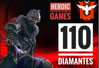 110 Diamantes Free Fire | Entrega Inmediata |