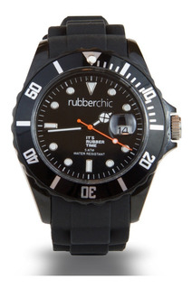 Reloj Hombre Sumergible Rubberchic Negro Basic 36mm