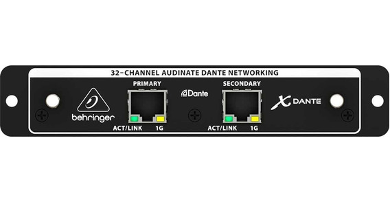 Interface P/expansão Da X32 C/32ch/24 Bits X Dante Behringer